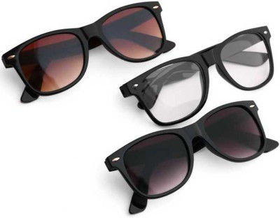 Elligator Wayfarer Sunglasses(Multicolor)