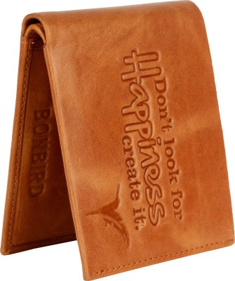 Bonbird Men Casual Tan Genuine Leather Wallet(8 Card Slots)