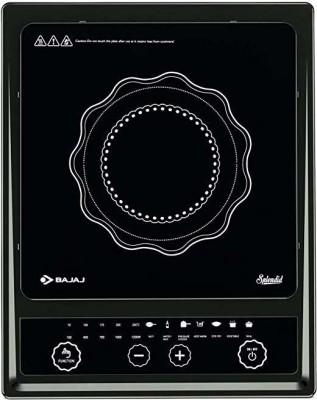 Bajaj Splendid 1200-Watt Induction Cooker Induction Cooktop(Black, Push Button)