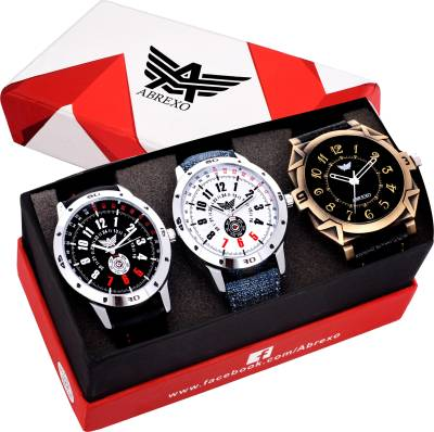 Abrexo Abx8010-Gents Exclusive (Casual+PartyWear+Formal) Designer Combo Analog Watch  - For Men