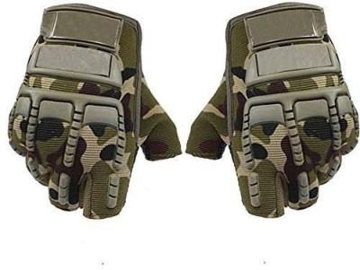 zaysoo Gloves Military Rubber Hard Knuckle Gloves Fingerless Gym & Fitness Gloves(Beige)
