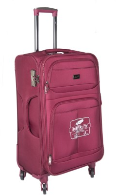 F Gear Mayfair Expandable Check in Luggage   24 inch Maroon