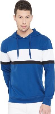 Gritstones Striped Men Hooded Neck Blue, Black, White T Shirt