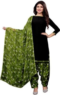 Saara Poly Crepe Printed, Geometric Print Salwar Suit Material(Unstitched)