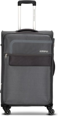 American Tourister GENEVA SPINNER 69CM DARK GREY Expandable Check in Luggage   27 inch Grey