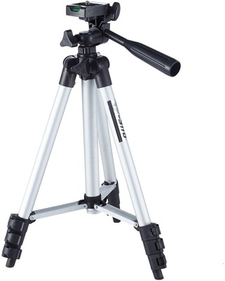 Trost Tripod-3110 40.2 Inch Portable Camera Tripod With Three-Dimensional Head & Quick Release Plate Tripod(Silver, Black, Supports Up to 1000 g) 1