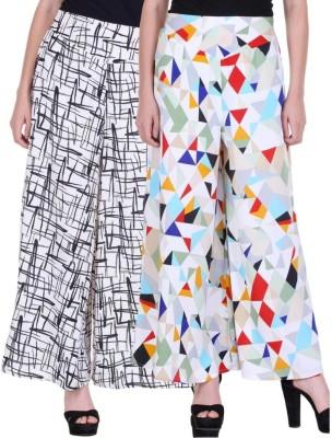 KODNYA Flared Women Multicolor Trousers