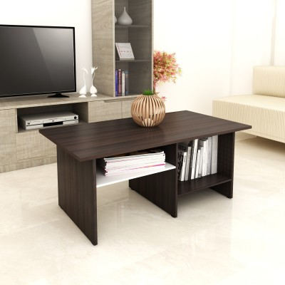 Crystal Furnitech Orient Engineered Wood Coffee Table(Finish Color - Frosty White +Cairo Wallnut)