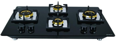 Elica FLEXI FB HCT 470 DX Brass Automatic Hob(4 Burners)
