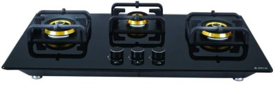 Elica Brass Automatic Gas Stove(3 Burners)