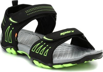 Sparx SS-805 Men Black, Green Sandals