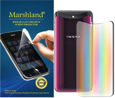 Marshland Back Screen Guard for Oppo Find X Transparent (Rainbow Effects)(Pack of 1)