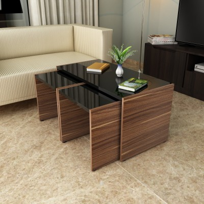 Crystal Furnitech cayman Engineered Wood Coffee Table(Finish Color - Chocklate sawline + Sandy Sawline)
