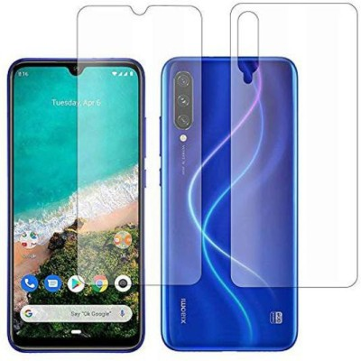 RUNEECH Front and Back Tempered Glass for REDMI A3, MI A3(Pack of 2)