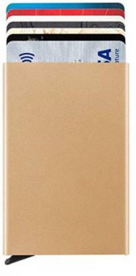 Mundkar 6 Card Holder(Set of 1, Gold)