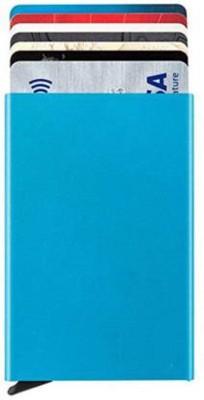 Mundkar 6 Card Holder(Set of 1, Blue)