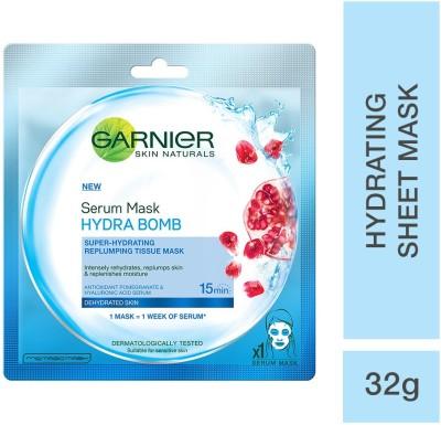 Garnier Skin Naturals, Hydra Bomb, Face Serum Sheet Mask (Blue)(32 g)