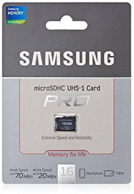 SAMSUNG Pro 16 GB SD Card Class 10 48 MB/s Memory Card