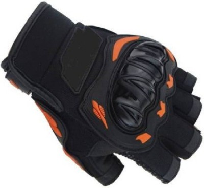 zaysoo Half Riding Gloves Riding Gloves(Black, Orange)