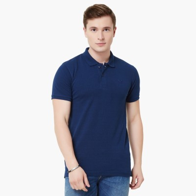 Lifestyle - Fame Forever Solid Men Polo Neck Dark Blue T-Shirt