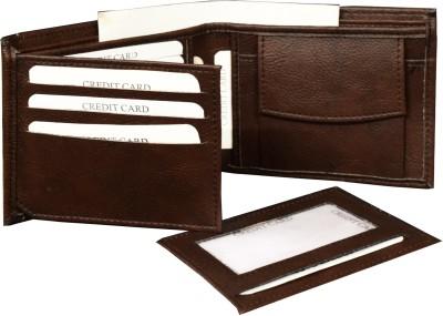 MATSS Men Wallet||Travel Document Holder||Card Holder 7 Card Holder(Set of 1, Brown)