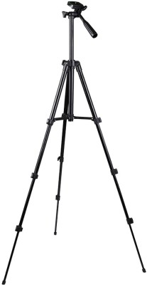 LIFEMUSIC Aluminum Foldable Extend and Retract Tripod Stand Tripod(Black, Supports Up to 1500 g) 1