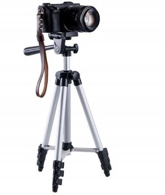 LIFEMUSIC Foldable Camera Tripod Tripod(Silver, Black, Supports Up to 1500 g) 1