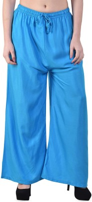 M D Fashion Relaxed Women Light Blue Trousers