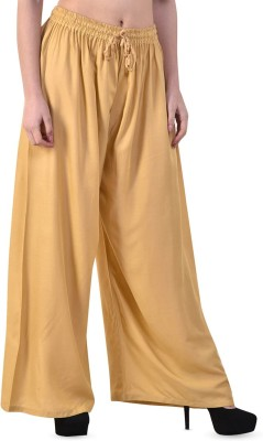 M D Fashion Relaxed Women Beige Trousers