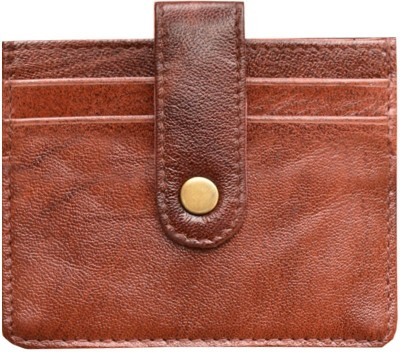 MATSS Matss 100% Genuine Maroon Leather||Card Case||Mini Wallet With Card Holder [4 Card Slots] 4 Card Holder(Set of 1, Maroon)