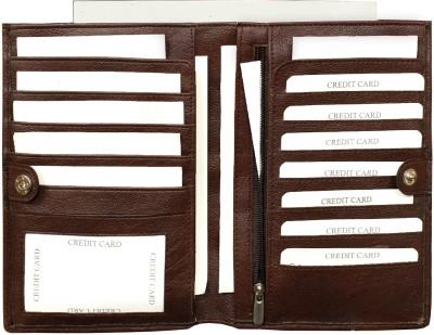MATSS Men Wallet||Travel Document Holder||Card Holder 3 Card Holder(Set of 1, Brown)