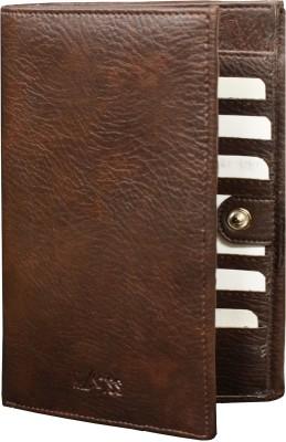 MATSS 100% Genuine Leather Tan Card Holder||Wallet||Travel Document Holder||Passport Holder For Men And Women 3 Card Holder(Set of 1, Brown)