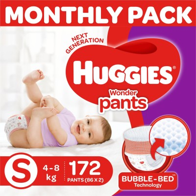 Huggies Wonder Pants with Bubble Bed Technology – S(172 Pieces)