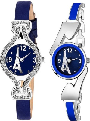 True Colors Blue Stone And Blue Paris Fashionable Analog combo Analog Watch  - For Women