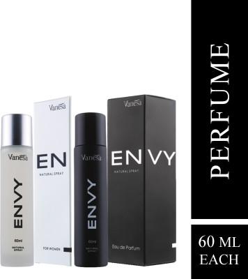 Envy Combo Perfume For Men and Women 60ML + 60ML Eau de Parfum  -  120 ml(For Men & Women)