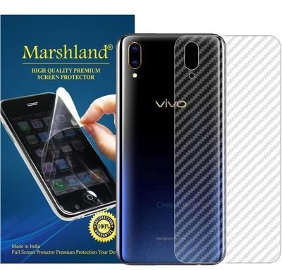Marshland Back Screen Guard for transparent, Vivo V11 Pro, 3D Carbon Fiber Flexible Back Screen Protector Anti Scratch Bubble Free(Pack of 1)