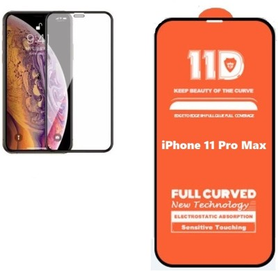 ISAAK Edge To Edge Tempered Glass for iPhone 11 Pro Max Full Glue 11D(Pack of 1)