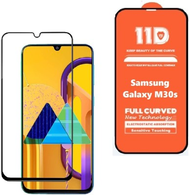 ISAAK Edge To Edge Tempered Glass for Samsung Galaxy M30s Full Glue 11D(Pack of 1)