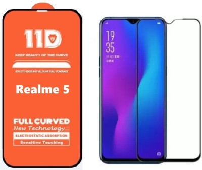 ISAAK Edge To Edge Tempered Glass for Realme Narzo 10, Realme Narzo 10A, Realme 5, Realme 5i, Realme 5s(Pack of 1)