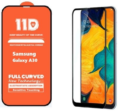 ISAAK Edge To Edge Tempered Glass for Samsung Galaxy A30 Full Glue 11D(Pack of 1)