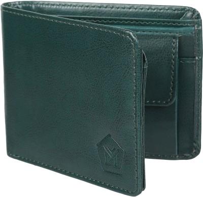 MMSHOPY Men Green Artificial Leather Wallet