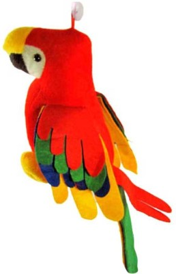 Demkas Musical Parrot With Tail  - 30 cm(Red)