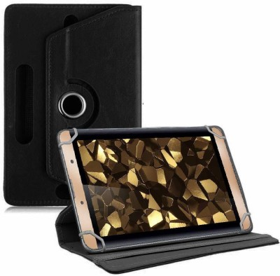 TGK Book Cover for iBall Slide Snap 4g2 7 inch Tablet Rotating Leather Case(Black, Cases with Holder)