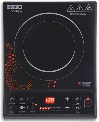 Usha IC 3616 Induction Cooktop(Black, Push Button)