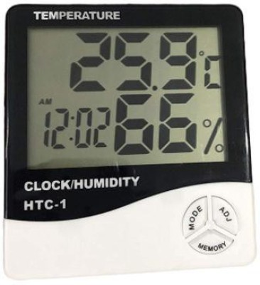 CONAVA Humidity Time Display Meter with Alarm Clock, Wall Mount or Table Top Digital Multimeter(Multicolor 2000 Counts)