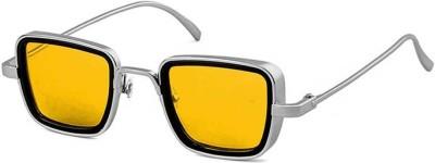 Star Kart Rectangular Sunglasses(Yellow)