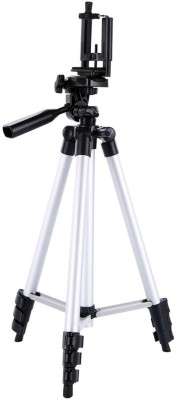 LIFEMUSIC Professional Tripod Stand Tripod(Silver, Black, Supports Up to 1500 g) 1
