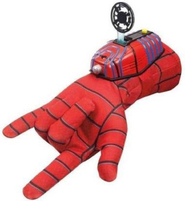 mQFIT Ultimate Spiderman Gloves with Disc launcher for Kids  Red  Red
