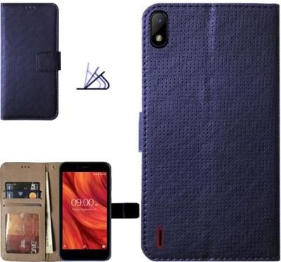 MYSHANZ Flip Cover for Lava Z41, Lava Z41 flip cover, Lava Z41 Desginer Flip cover, Lava Z41 mobile flip cover (Multicolor)(Blue)