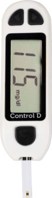 Control D Diabetes Sugar Testing Machine with 5 Strips Glucometer (White)